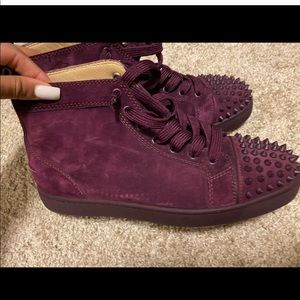 Men's Christian Louboutin Spiked Sneakers